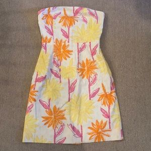 Lilly Pulitzer Strapless Dress (Glow in the dark)